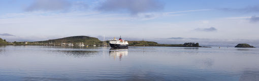 Isle of Mull Ferry arriving at Oban Royalty Free Stock Photos