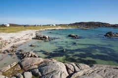 Isle of Mull Scotland beautiful Scottish beach at Fidden near Iona Royalty Free Stock Image