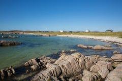 Isle of Mull Scotland campervans motorhomes and beautiful beach Stock Photo