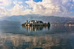 Isle of Orta San Giulio, Lake Orta Stock Photography