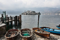 Isle of Orta San Giulio, Lake Orta Royalty Free Stock Photos