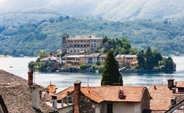 Isle of Orta San Giulio, Orta lake, Stock Photography