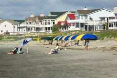 Isle of Palms Beach. Sunbathers at Isle of Palms Stock Images