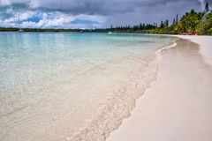 Isle of Pines. A beautiful sandy beach on Isle of Pines, New Caledonia Royalty Free Stock Photography