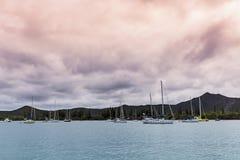 Isle of Pines marina. Photo of Isle of Pines yachts, New Caledonia Royalty Free Stock Photos