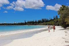 Isle of Pines, New Caledonia, South Pacific. Kuto Beach in Isle of Pines in New Caledonia, South Pacific Royalty Free Stock Images