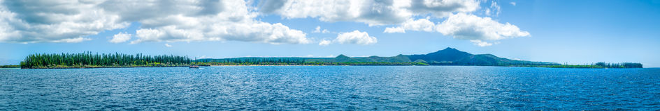 Isle of Pines. Panorama of Isle of Pines New Caledonia stock photography