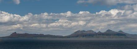 Isle of Rum Scotland Profile. A profile shot of the Isle of Rum in Scotland Royalty Free Stock Photo