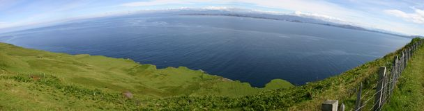 Isle of Skye. Panorama at Outer Hebrides from Isle of Skye Stock Images