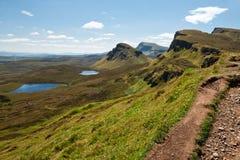 Isle of Skye, Bioda Buidhe. View of the mountains called Bioda Buidhe from the Quiraing on the Isle of Skye royalty free stock image