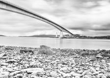 Isle of Skye Bridge - Highlands of Scotland - concrete bridge from mainland Scotland to Isle of Skye. Highlands stock photo