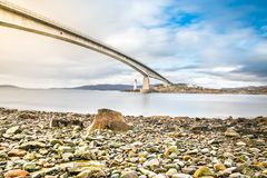 Isle of Skye Bridge - Highlands of Scotland - concrete bridge from mainland Scotland to Isle of Skye. Scotland royalty free stock image