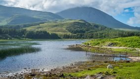 Stunning landscape along Loch Cill Chriosd in the Isle of Skye, Scotland. stock photography