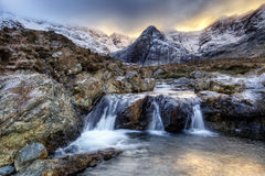Isle of Skye, Fairy Pools. Fairy Pools in Glen Brittle, Isle of Skye, Scotland, UK stock image