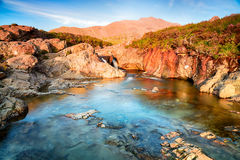 Isle of Skye Fairy pools. The Isle of Skye Fairy Pools at Glenbrittle at the foot of the Black Cuillin Mountains stock images