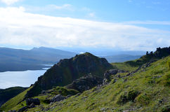 The Isle of Skye Highland Views. Scenic views from the Old Man of Storr in Scotland Royalty Free Stock Images