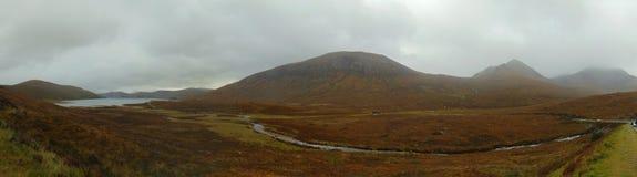 Isle of Skye landscape panorama stock photography