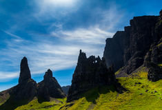 Isle of Skye. Magnificent view over the Isle of Skye, Scotland stock image
