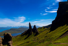 Isle of Skye. Magnificent view over the Isle of Skye, Scotland stock images