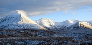 Isle of Skye Mountains in Winter Royalty Free Stock Image