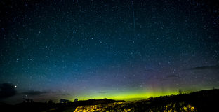 Isle of Skye Northern Lights and stars stock images