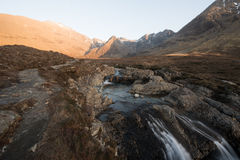 Isle of Skye in Scotland Mountains Stock Images