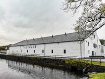 Isle of Skye , Scotland - October 10 2018: Talisker distillery is an Island single malt Scotch whisky distillery based. In Carbost, Scotland on the Isle of Skye royalty free stock images