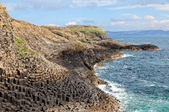 Isle of Staffa coast, Scotland Royalty Free Stock Images
