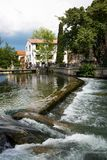 Isle-sur-la-Sorgue - Vaucluse - Provence - France. View of Isle-sur-la-Sorgue - Vaucluse - Provence - France Stock Photo