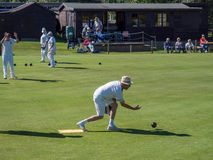 ISLE OF THORNS, SUSSEX/UK - SEPTEMBER 11 : Lawn Bowls Match at I Royalty Free Stock Image
