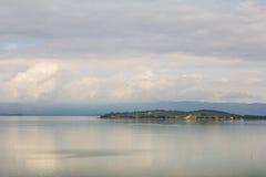 Isle in Trasimeno lake Royalty Free Stock Photo