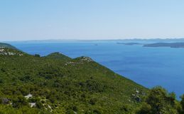 The isle Ugljan in the Mediterranean Stock Photo