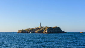 Isle view in the gulf of santander Royalty Free Stock Images