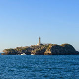 Isle view in the gulf of santander Royalty Free Stock Photos