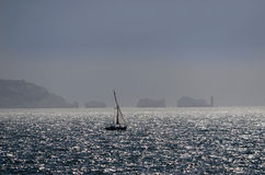 Isle of wight. View of the isle of wight from the hampshire coast Royalty Free Stock Images