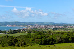 Isle of Wight coast view towards Shanklin and Sandown Royalty Free Stock Photos