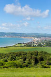 Isle of Wight coast view towards Shanklin and Sandown Royalty Free Stock Photography