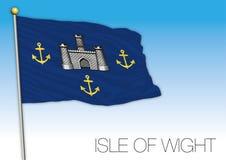 Isle of Wight flag, United Kingdom, county of UK Royalty Free Stock Image