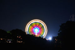 Isle of Wight Festival Rides at Night Stock Photography