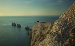 The Isle Of Wight Needles. A view of the Needles off the westcoast of the Isle of Wight royalty free stock images