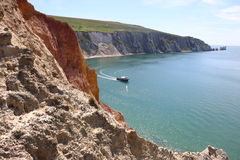 Isle of wight needles Royalty Free Stock Images
