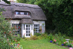 Isle of Wight thatched cottage Royalty Free Stock Image