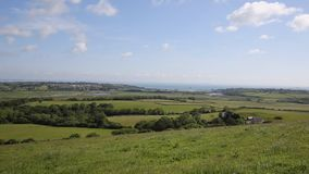Isle of Wight view to Bembridge and Whitecliff Bay Royalty Free Stock Image