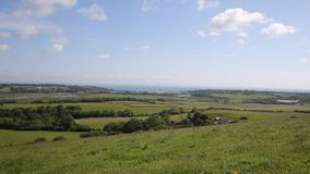 Isle of Wight view to Bembridge and Whitecliff Bay Royalty Free Stock Photography