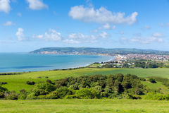 Isle of Wight view to Shanklin and Sandown Stock Photography