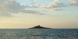 Isle of Women. Isola delle femmine (Isle of Women) view from mainland, Sicily stock photos