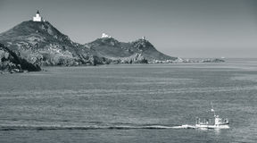 Isles Sanguinaires, Ajaccio, Corsica, France Royalty Free Stock Images