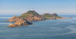Isles Sanguinaires archipelago. Ajaccio, Corsica Royalty Free Stock Images
