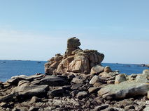 Isles of Scilly. Dog rock formation on Tresco Royalty Free Stock Images