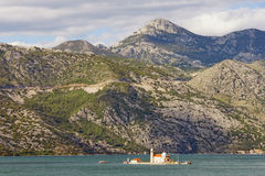 Islet in Bay of Kotor, Montenegro Royalty Free Stock Photography